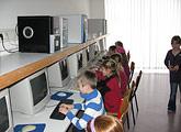 Arbeiten am PC in der Grundschule Ruderting